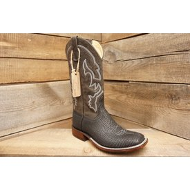 Anderson Bean Men's Black Shark Square Toe Boot