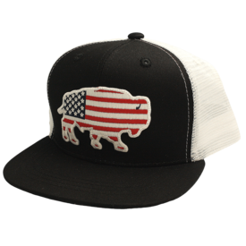 Red Dirt Hat Co USA Buffalo Black Kids Cap