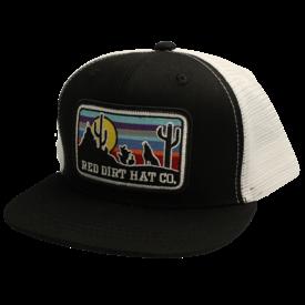 Red Dirt Hat Co Desert Sunset Black Kids Cap