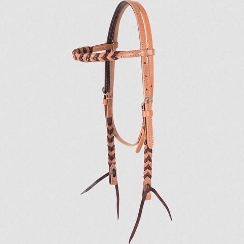 Harness/Latigo Blood Knot Browband Headstall