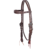 Tooled Chocolate Browband Headstall