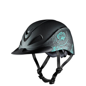 Troxel Rebel Turquoise Rose Helmet Size Lrg