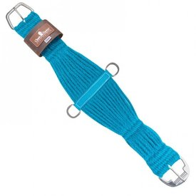 Classic Equine Colored 100% Mohair Cinch Turquoise