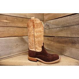 Anderson Bean Men's Chocolate Elk Suede Boots