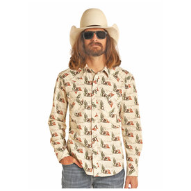 Rock & Roll Cowboy Men's Dale Brisby by Rock & Roll Cowboy Snap Front Shirt B2S4090