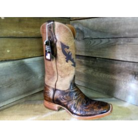 Black Jack Men's Hand Tooled Vintage Western Boot