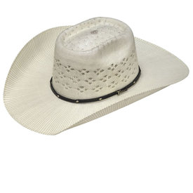 Twister Bangora Leather Studded Band Straw Hat