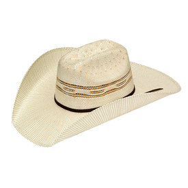 Twister Tan Patterned Straw Hat