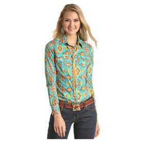Rock and Roll Cowgirl Women's Dale Brisby by Rock & Roll Cowgirl Snap Front Shirt B4S4076