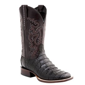 Lucchese Men's Black Caiman Square Toe Boot