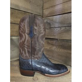 Lucchese Men's Luccese Navy Full Quill Ostrich Boots