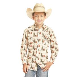 Rock & Roll Cowboy Boy's Snap Front Shirt B8S4090