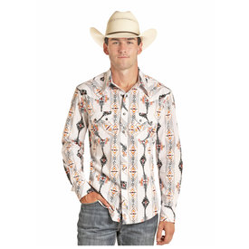 Rock & Roll Cowboy Men's Snap Front Shirt B2S4072