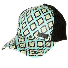 Cruel Girl Women's Turquoise Aztec Snapback Cap