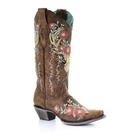 Corral Women's Floral Deer Skull Boot