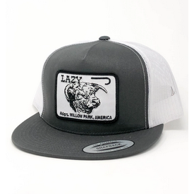 Lazy J Ranch Wear Grey and White Headquarters Cap