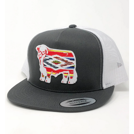 Lazy J Ranch Wear Aztec Serape Hereford Cap