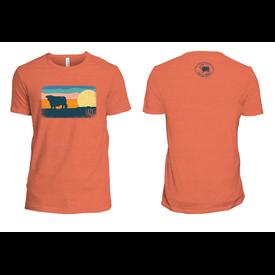 Lazy J Ranch Wear Men's Orange Sunset Pasture T-Shirt