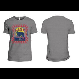 Lazy J Ranch Wear Men's Grey Feed Patch T Shirt