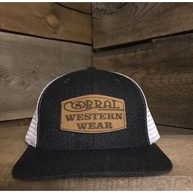 Corral Western Wear Logo Leather Patch Cap
