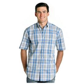 Panhandle Men's Rough Stock Button Down Short Sleeve