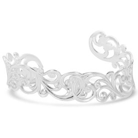 Montana Silversmiths Denim and Lace Filigree Cuff Bracelet