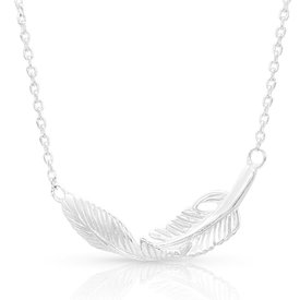 Montana Silversmiths Turning Feather Necklace