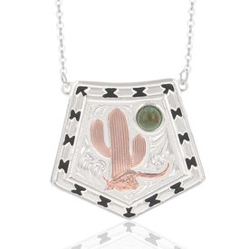 Montana Silversmiths Stay Cactus Strong Necklace