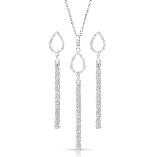 Montana Silversmiths Teardrop Fringe Jewelry Set