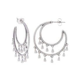Montana Silversmiths Tamborine Rope Earrings