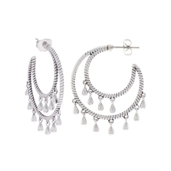 Montana Silversmiths Tamborine Rope Earrings