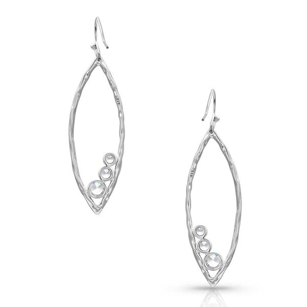 Montana Silversmiths Hammered Crystal Trio Earrings