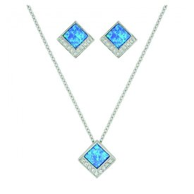 Montana Silversmiths Turquoise  Opal Diamond Jewelry Set