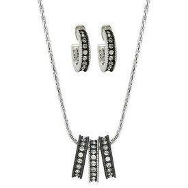 Montana Silversmiths Black/White 3 Ring Courtz Jewelry Set