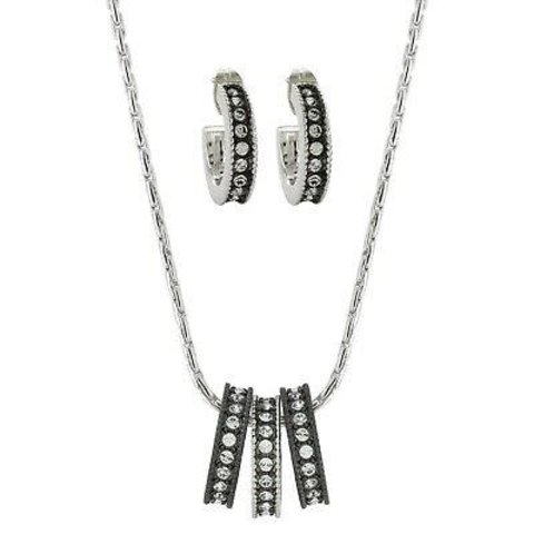 Black/White 3 Ring Courtz Jewelry Set