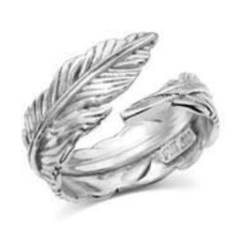Montana Silversmiths Open Feather Ring