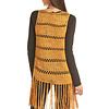 Women's Mustard Crochet Vest