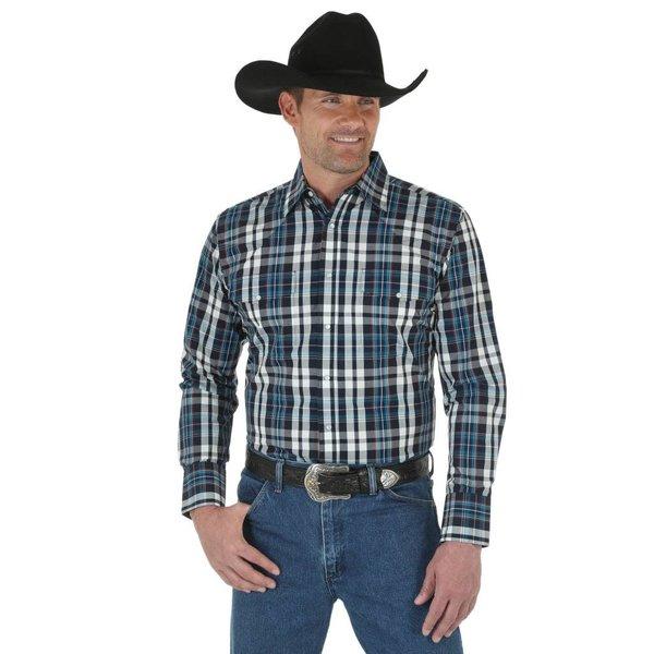 Wrangler Men's Wrinkle Resist Snap Front Shirt C3 2XL