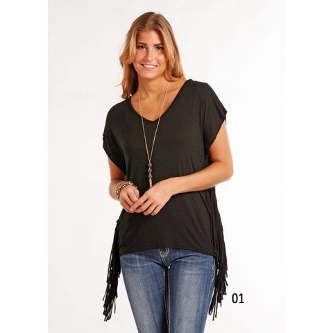 Women's Fringe Blouse C3 Small