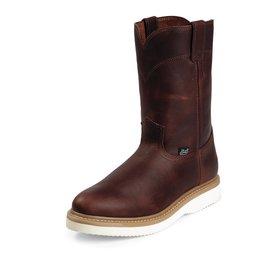 Justin Men's Mahogany Premium Work Boot