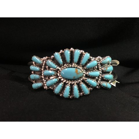 Genuine Indian Turquoise Cuff