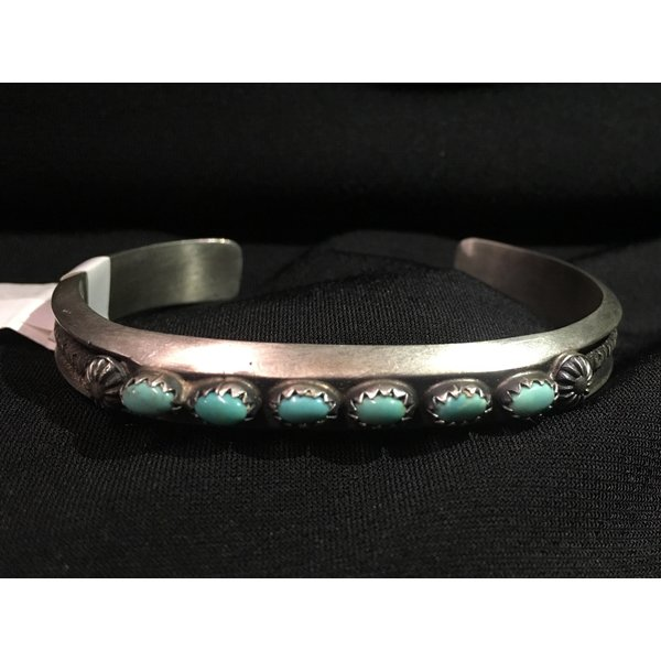 Zuni Handmade Turquoise Cuff Bracelet