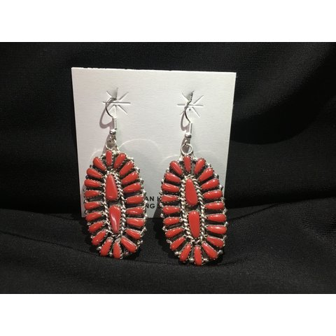 Genuine Indian Handcrafted Red Earrings