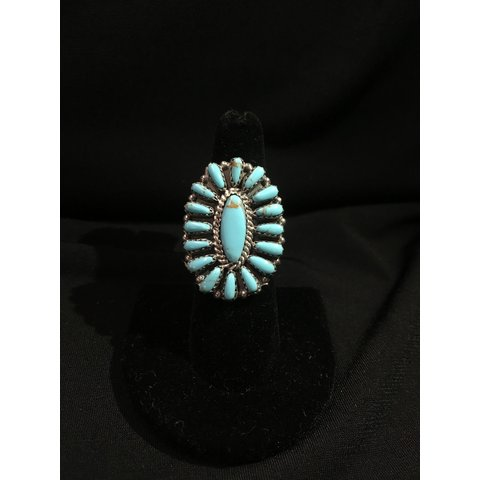Genuine Indian Turquoise Ring