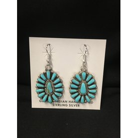 Genuine Indian Sterling Silver Turquoise Earrings