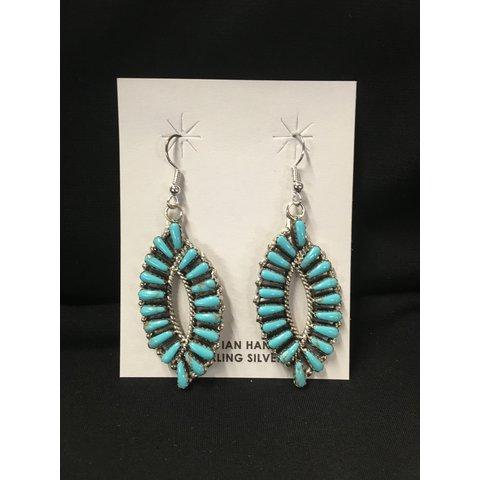 Genuine Handcrafted Turquoise Eye Earrings