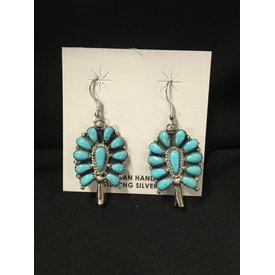 Genuine Turquoise Squash Blossom Earrings