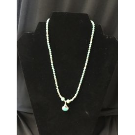 Paige Wallace Turquoise Oval Pendant Necklace