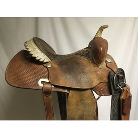 Billy Cook Used Rawhide Cantle Barrel Saddle