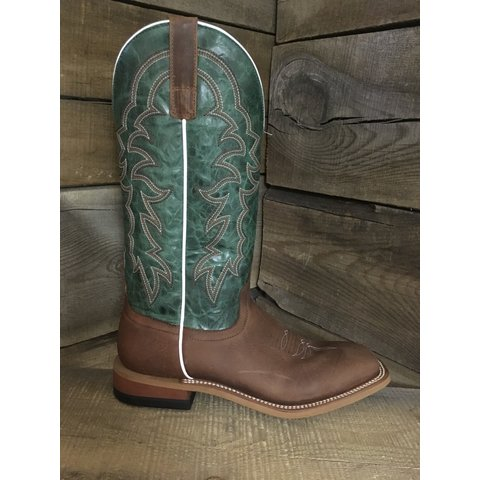 Men's Green Top Square Toe Western Boot